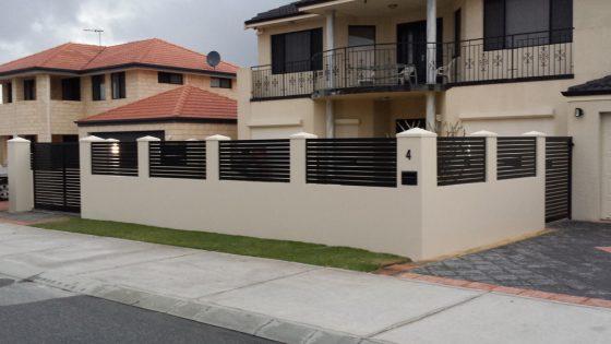 Black Aluminium Slat Bays around Large New Home