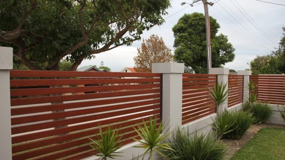 Timber Effect Slats in Front Fence