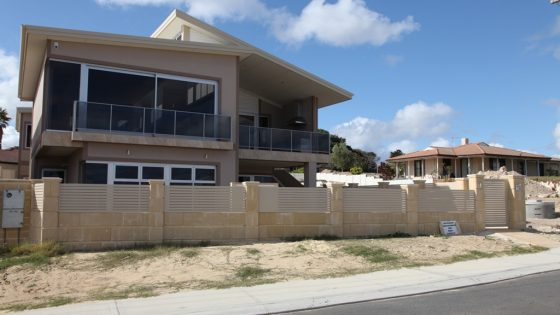Aluminium Slat Fencing installed on new Modern Home