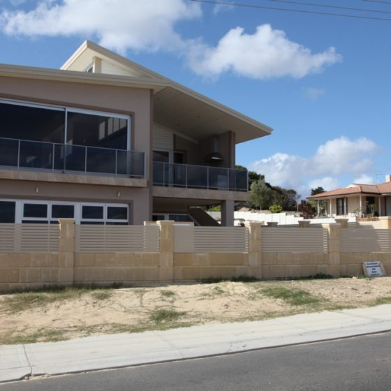 Aluminium Slat Fencing installed on new Modern Home