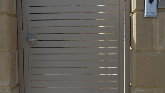 Aluminium Slat Gate with Security System