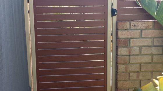 Nive's Gate - Wheat Frame with Cedar Slats